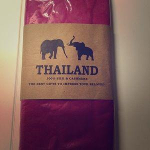 100% Silk & Cashmere scarf from Thailand
